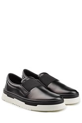 Valentino New Point Break Leather Slip Ons Black