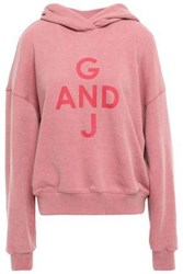 Goen.J Woman French Cotton Terry Hoodie Pink