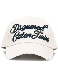 Dsquared2 Caten Twins Cursive Baseball Cap Nude Neutrals