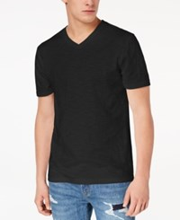 American Rag Men's Textured V Neck T Shirt Created For Macy's Deep Black