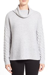 Women's Nordstrom Collection Funnel Neck Wool And Cashmere Sweater Grey Clay Heather