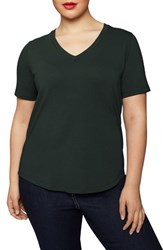 Universal Standard Plus Size V Rex Tee Forest Green