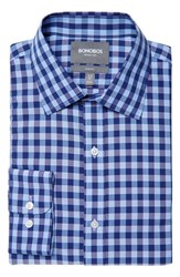 Men's Bonobos Slim Fit Wrinkle Free Gingham Dress Shirt Blue