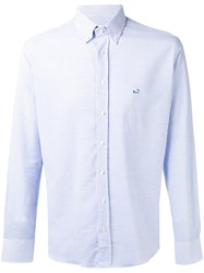 Etro Button Up Pattern Shirt White