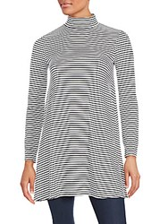 Minkpink Striped Long Sleeve Tunic White Black