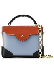 Manu Atelier Micro Bold Top Handle Bag Blue