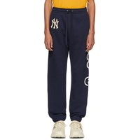 Gucci Navy Ny Yankees Edition Patch Lounge Pants