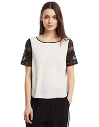 Kenneth Cole Alona Lace Top White
