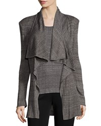 Misook Textured Cascade Jacket Women's Mink Black