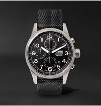 Oris Pro Pilot Automatic Chronograph 44Mm Stainless Steel And Canvas Watch Black