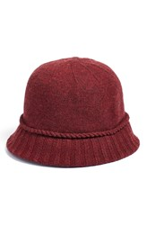 August Hat 'Knitty City' Cloche Red