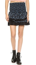 Pam And Gela Smocked Ruffle Skirt Liberty Floral And Black