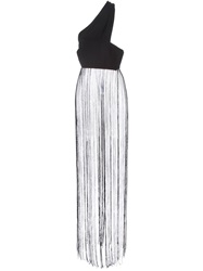 Cnc Costume National Costume National One Shoulder Long Fringed Top Black
