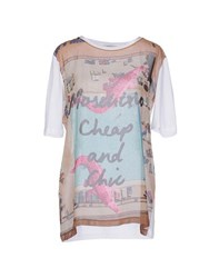 Moschino Cheap And Chic Moschino Cheapandchic Topwear T Shirts Women White