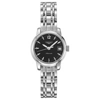 Longines L22634526 Women's Saint Imier Automatic Date Bracelet Strap Watch Silver Black