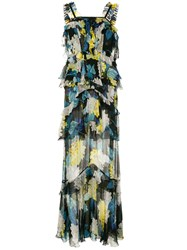 Alice Mccall Wild Gown Floral Print Tiered Chiffon Maxi Dress 60