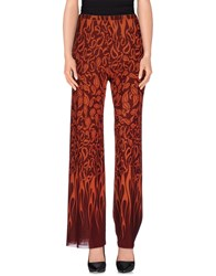 Jean Paul Gaultier Soleil Trousers Casual Trousers Women Brick Red