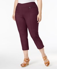 Style And Co Plus Size Pull On Capri Pants Only At Macy's Orchard Vine