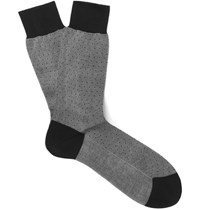 Tom Ford Polka Dot Cotton Socks Gray