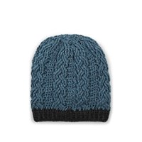 Barneys New York Cable Stitch Cashmere Beanie Blue