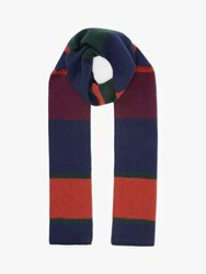 John Lewis And Partners Striped Cashmere Scarf Multi