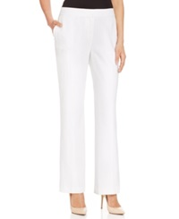 Nine West Linen Blend Straight Leg Pants