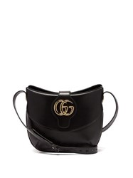 Gucci Arli Gg Leather Shoulder Bag Black