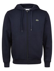 Lacoste Hooded Fleece Sweatshirt Navy