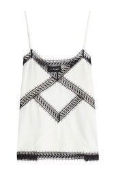 The Kooples Silk Camisole With Lace