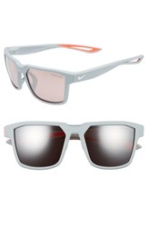 Nike Women's Fleet 55Mm Sport Sunglasses Matte Wolf Grey