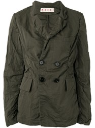 Marni Textured Rain Jacket Green