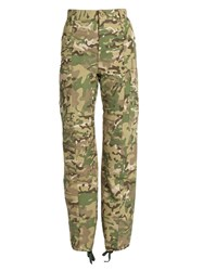Vetements Camouflage Print High Rise Trousers