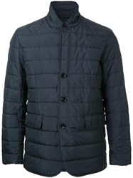 Kent And Curwen Button Front Padded Jacket Black