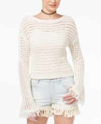 American Rag Cropped Bell Sleeve Sweater Only At Macy's Oatmeal