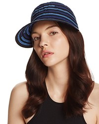 Aqua Ribbon Stripe Baseball Cap 100 Exclusive Denim Navy