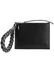 Rick Owens Woven Handle Purse Women Calf Leather One Size Black