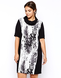 Carmakoma Luton Printed Dress Greyart