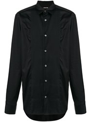 Roberto Cavalli Pleated Front Shirt Black