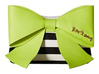 Betsey Johnson Big Bow Chic Large Bow Clutch Citron Clutch Handbags Yellow