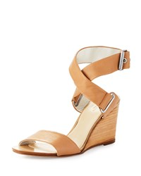 Rag And Bone Damien Leather Wedge Sandal Nude