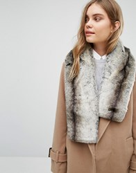 Oasis Faux Fur Scarf Neutral Beige