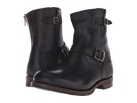 Frye Logan Engineer Inside Zip Black Vintage Pull Up Men's Zip Boots