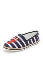 Mother Of Pearl Lagan Embroidered Espadrille Falts Lobster