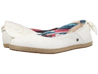 Ugg Perrie White Wall Canvas Women's Flat Shoes