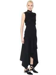 J.W.Anderson Asymmetric Draped Boiled Wool Dress
