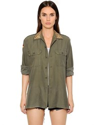 Forte Couture Scarf Back Cotton Shirt