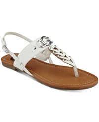 G By Guess Liberty T Strap Sandals Women's Shoes White