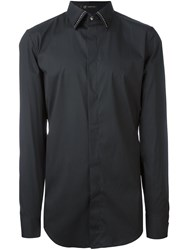 Versace Rounded Stud Collar Shirt Black