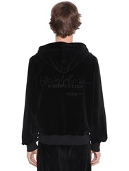 Haider Ackermann Logo Embroidered Cotton Chenille Hoodie Black