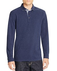 Brooks Brothers Patina Long Sleeve Classic Fit Polo Shirt Navy